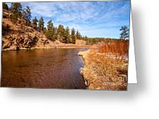 View Of River Around The Bend Greeting Card