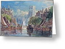 View Of Rotterdam Greeting Card