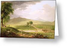 View Of Rutland - Vermont Greeting Card by Asher Brown Durand
