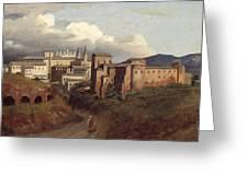 View Of Saint John Lateran Rome Greeting Card by Joseph Desire Court