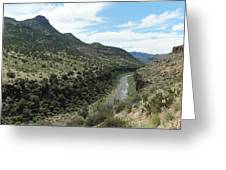 View Of Salt River Canyon Greeting Card