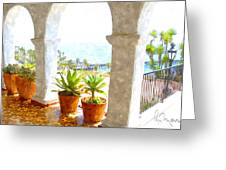 View Of San Clemente Pier Greeting Card
