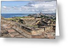 View Of San Juan From The Top Of Fort San Cristoba Greeting Card