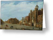 View Of St. James's Palace And Pall Mal Greeting Card