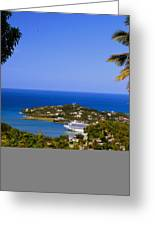 View Of St. Lucia Greeting Card