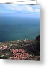 View Of Teide From La Gomera Greeting Card