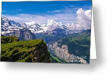 View Of The Swiss Alps Greeting Card