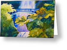 View Of The Bridge Greeting Card