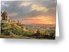View Of The Butte Montmartre Greeting Card