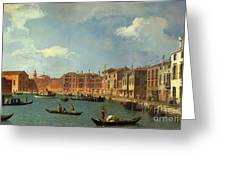 View Of The Canal Of Santa Chiara Greeting Card