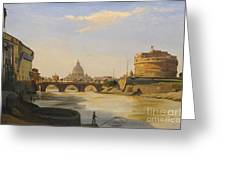 View Of The Castel Sant'angelo Greeting Card