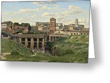 View Of The Cloaca Maxima - Rome Greeting Card