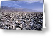 View Of The Devil's Golf Course Death Valley California Greeting Card
