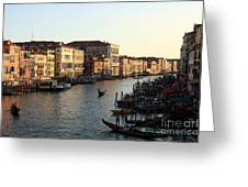 View Of The Grand Canal In Venice From The Rialto Bridge Greeting Card