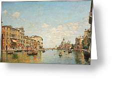 View Of The Grand Canal Of Venice Greeting Card