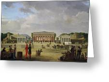 View Of The Grand Theatre Constructed In The Place De La Concorde For The Fete De La Paix Greeting Card