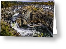 View Of The Great Falls Greeting Card