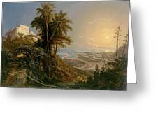 View Of The Harbor Of Puerto Cabello, Study Greeting Card