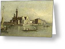 View Of The Isola Di San Michele In Venice Greeting Card