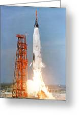 View Of The Liftoff Of Mercury-atlas 5 Greeting Card