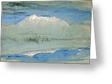 View Of The Old Man At Coniston As Seen From Brantwood House Greeting Card