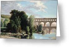 View Of The Pont Du Gard Greeting Card