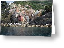 View Of The Riomaggiore, La Spezia Greeting Card