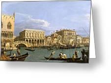 View Of The Riva Degli Schiavoni. Venice Greeting Card