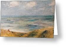 View Of The Sea Guernsey Greeting Card by Pierre Auguste Renoir