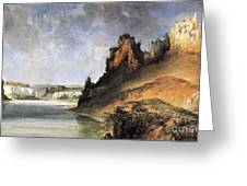 View Of The Stone Walls Greeting Card