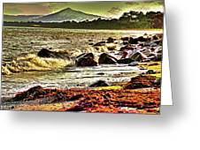 View Of The Sugarloaf Mountain From Killiney, 1b Greeting Card