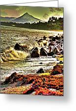 View Of The Sugarloaf Mountain From Killiney Greeting Card