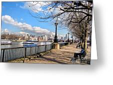 View Of The Thames Greeting Card