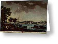 View Of The Town And Port Of Bayonne Greeting Card