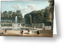 View Of The Tuileries Garden Greeting Card