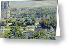 View Of The Tuileries Gardens Greeting Card by Claude Monet