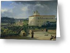 View Of The Villa Medici In Rome Greeting Card
