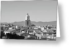 View Of The Village And The Clocher Of Saint-tropez Greeting Card