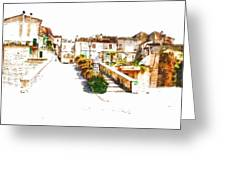 View Of The Village Greeting Card