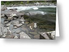 View Of The Wenatchee River Greeting Card