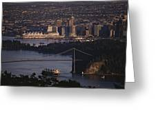 View Of Vancouver, British Columbia Greeting Card by Annie Griffiths