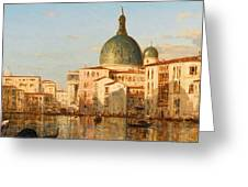 View Of Venice With San Simeone Piccolo Greeting Card