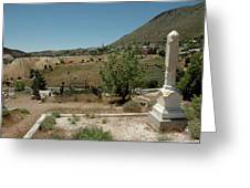 View Of Virginia City Nv From The Final Resting Place Greeting Card