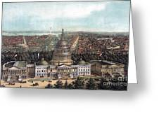 View Of Washington Dc Greeting Card
