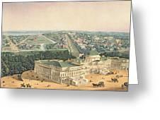 View Of Washington Dc Greeting Card