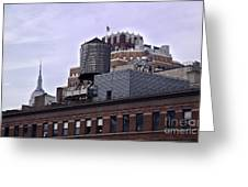 View Of Water Tank From High Line Park Greeting Card