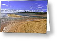 View Of Wollumboola Lake From Sand Dunes Greeting Card