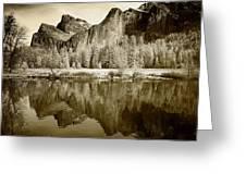 View Of Yosemite Greeting Card