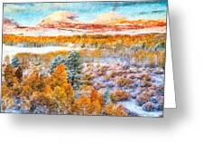 View Of Yosemite National Park Greeting Card