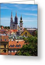 View Of Zagreb Greeting Card
